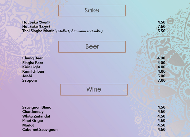 Sake, Beer and Wine