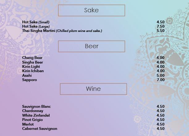 Sake, Beer and Wine