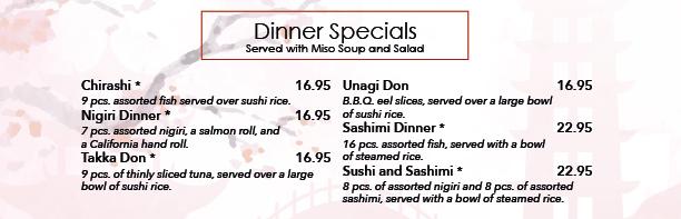 Japanese Dinner Special